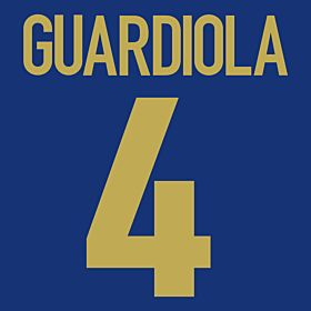 Guardiola 4 - 98-99 Centenary Flex Name and Number Transfer