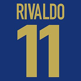 Rivaldo 11 - 98-99 Centenary Flex Name and Number Transfer