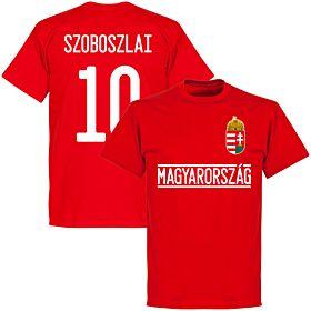 Hungary Szoboszlai 10 Team T-Shirt - Red