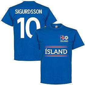 Island Sigurdsson 10 Team Tee - Royal