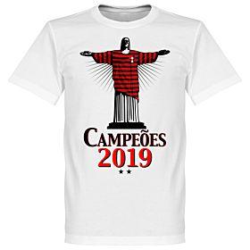 Flamengo 2019 Champions Christ T-Shirt - White