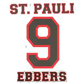 Ebbers 9 - 12-13 St Pauli Away Official Name & Number