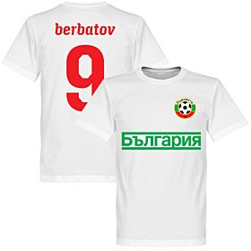 Bulgaria Berbatov 9 TeamT-Shirt - White