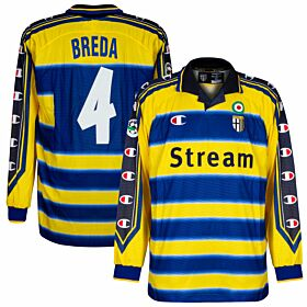 Champion Parma 1999-2000 Home Long-Sleeve Breda No.4 Shirt - NEW Player Issue - Size XL