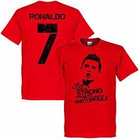 Ronaldo 7 Tee - Red