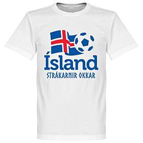 Iceland National Tee - White