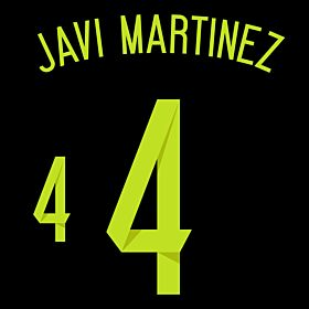 Javi Martinez 4 - Spain Away Official Name & Number 2014 / 2015