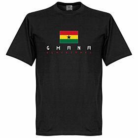 Ghana Black Stars Flag Tee - Black