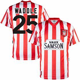 1997 Sunderland Home Retro Shirt + Waddle 25 (Retro Flock Printing)