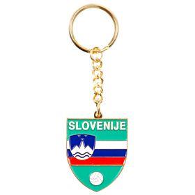 Slovenia Enamel Keyring