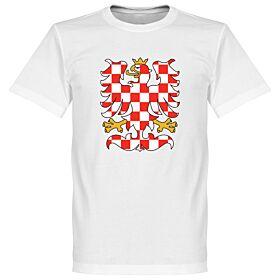 Czech Republic Crest Tee - White
