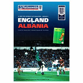 England vs Albania - World Cup Qualifier in Newcastle - Sept 5, 2001