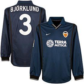 00-01 Valencia Away L/S Jersey + Bjorklund No.3 - Players + LFP Patch