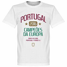 Portugal European Champions 2016 Ronaldo Tee - White