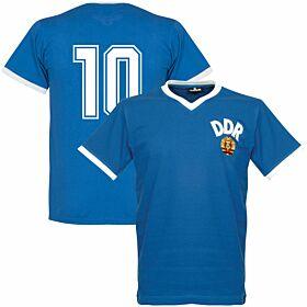 1974 DDR WC Home Retro Shirt + No. 10