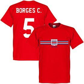 Costa Rica Borges C. Team Tee - Red
