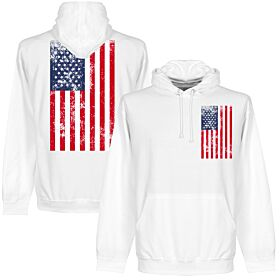 USA Graphic Hoodie - White