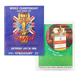 England vs West Germany World Cup Finals at Wembley Program - July 30, 1966