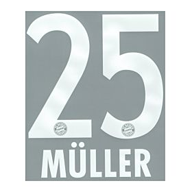 Müller 25 - Boys Bayern Munich Home Official Name & Number 2013 / 2014