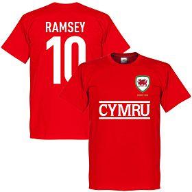 Cymru Ramsey Team Tee - Red