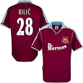 2000 West Ham Utd Home Retro Shirt + Bilic 28 (Retro Flex Printing)