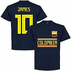 Colombia James 10 Team Tee - Navy