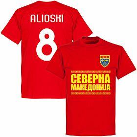 North Macedonia Alioshi 8 Team T-shirt - Red
