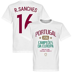Portugal European Champions 2016 Sanches Tee - White