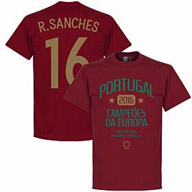 Portugal European Champions 2016 Sanches Tee - Deep Red