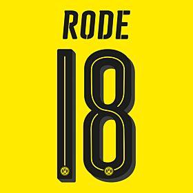 Rode 18 - Borussia Dortmund Home Official Name & Number 2016 / 2017