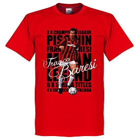 Franco Baresi Legend Tee - Red