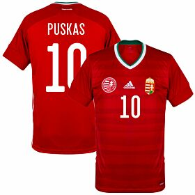 20-21 Hungary Home Shirt + Puskas 10 (Fan Style)