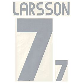 Larsson 7 - 03-04 Sweden Home Official Name and Number