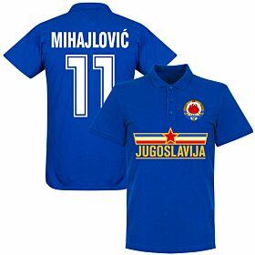Yugoslavia Mihajlovic Team Polo Shirt - Royal