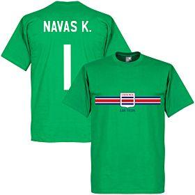 Costa Rica Keylor Navas Goalkeeper Tee - Green