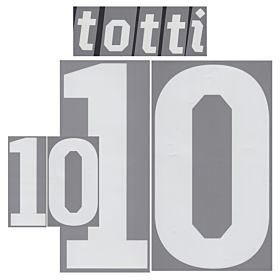 Totti 10 - 2010 Italy Home Official Name & Number