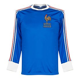 adidas France 1978-1980 Home Jersey L/S - USED Condition (Great) - Extremely Rare - Size Small