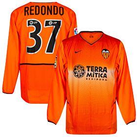 Nike Valencia CF 2002-2003 Jersey L/S - Player Issue - REDONDO #37 (Slight Damage to Print) - Size M