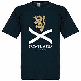 Scotland The Brave Saltire Tee - Navy