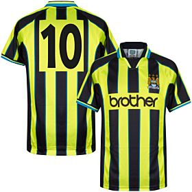 1999 Man City Retro Wembley Shirt + No.10