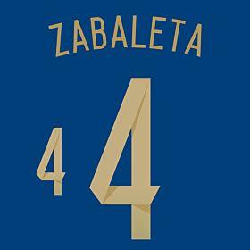 Zabaleta 4 - Argentina Away Official Name & Number 2014 / 2015
