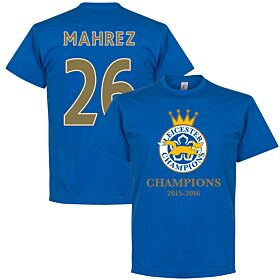 Leicester Champions Mahrez Tee - Royal