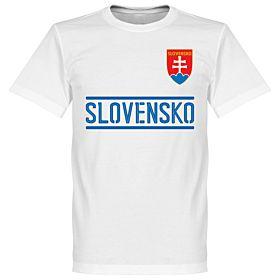 Slovakia Team Tee - White