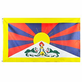 Tibet Large National Flag (90x150cm approx)