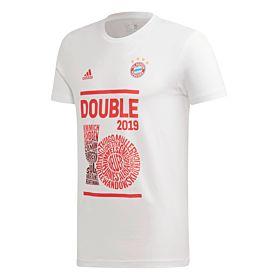 adidas 2019 Bayern Munich Double Winners Tee - White