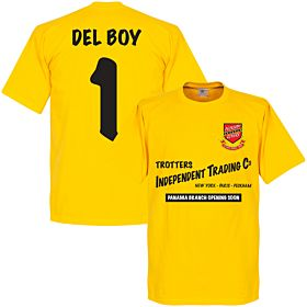 Peckham Rovers Panama Independent Trading Del Boy Tee - Yellow