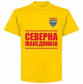 North Macedonia Team T-shirt - Yellow