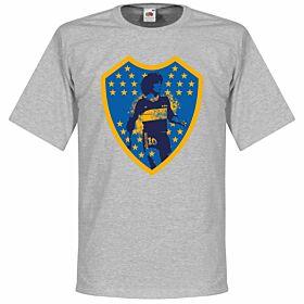 Maradona Boca Crest Tee - Grey