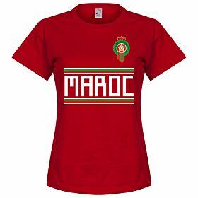Morocco Team Womens Tee - Red