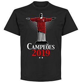 Flamengo 2019 Champions Christ T-Shirt - Black